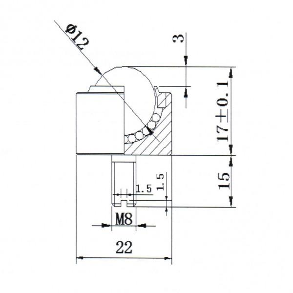 Niro-Kugelrolle KSM-12-C-FL-NI-ZRO2