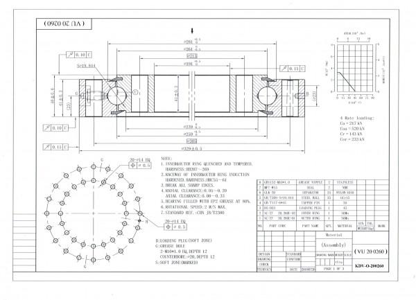 Vierpunktlager KDV-O-200260 ( Drehverbindung VU 200260 )