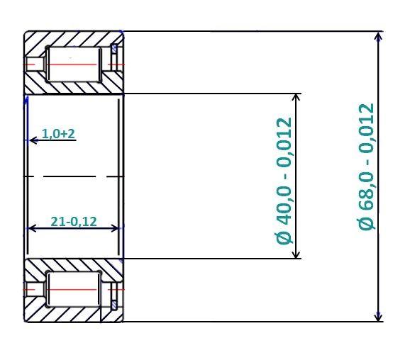Zylinderrollenlager STBSL-183008 (SL183008, , SL183008-A-XL, NCF3008V)