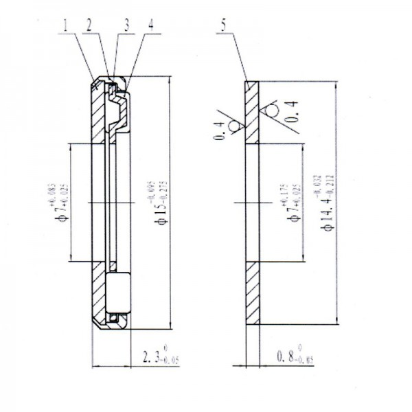 Axial-Nadellager AX-715 mit Scheibe CP-715