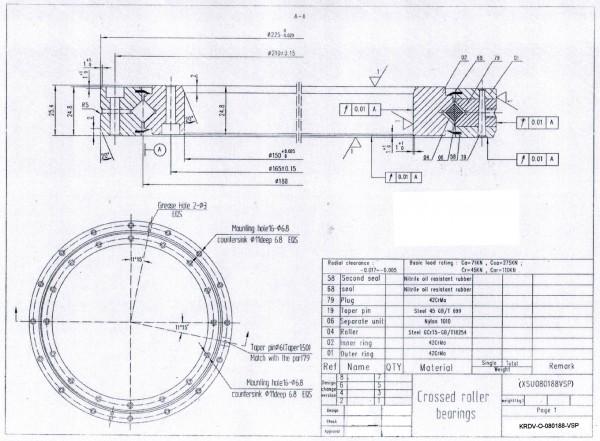 Kreuzrollenlager KRDV-O-080188-VSP ( XSU 080188 )