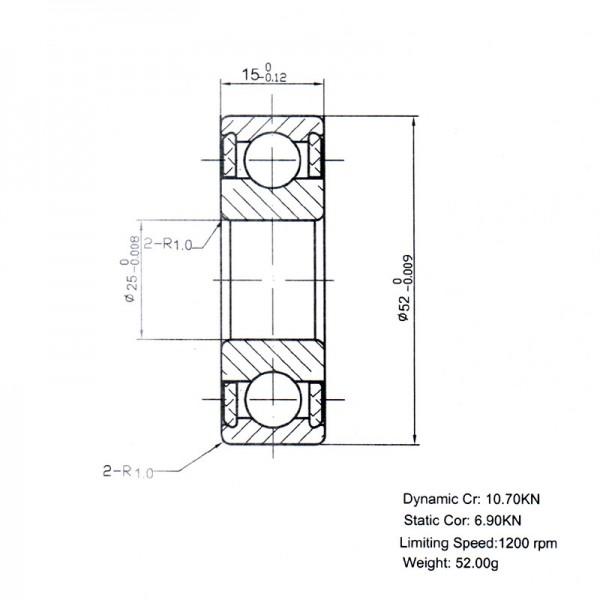 Keramik-Rillenkugellager 6205-KER-SI3N4-F