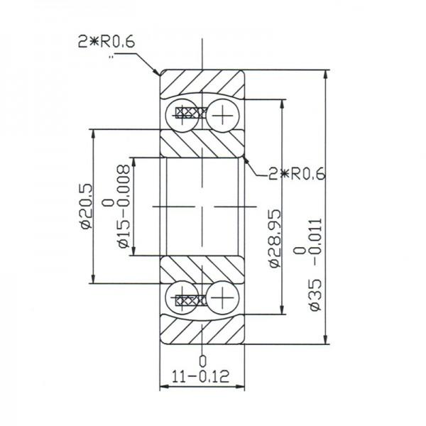 Keramik-Pendelkugellager 1202-KER-ZRO2-PEEK ( Keramiklager CER1202 )
