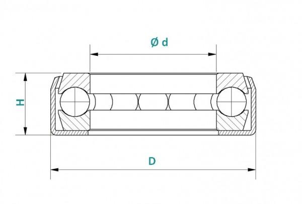 Axial-Rillenkugellager KT-12 / DLG100/12
