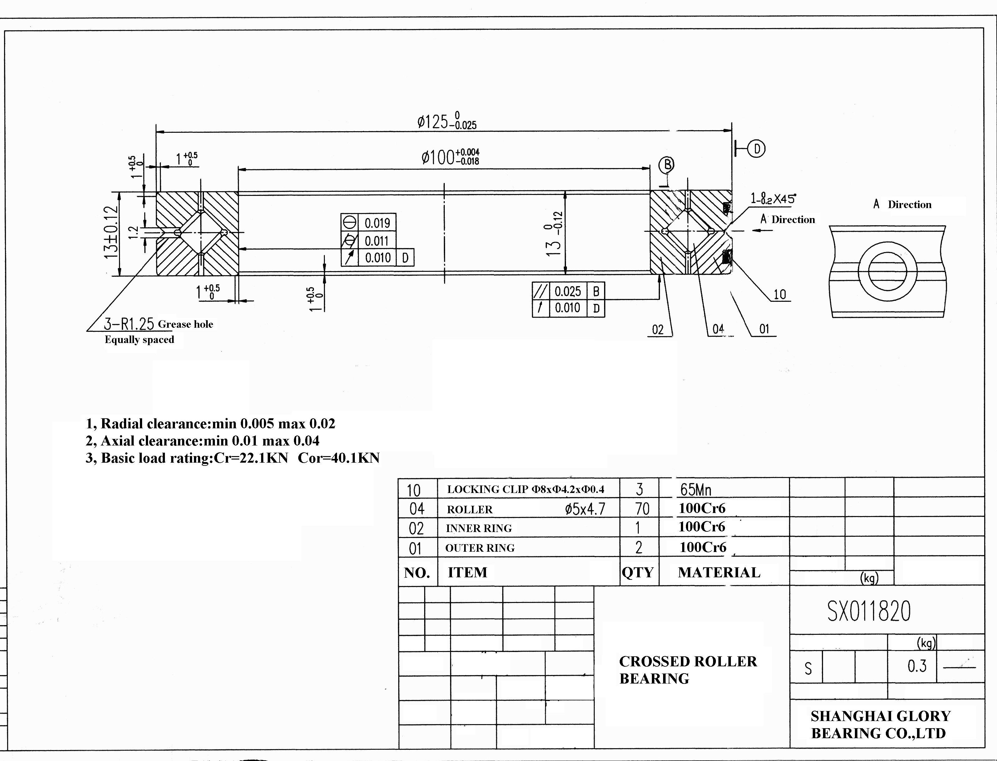 kreuzrollenlager krl 011820 kreuzrollenlager sturm. Black Bedroom Furniture Sets. Home Design Ideas