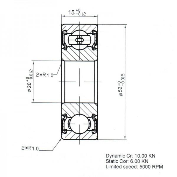 Keramik-Rillenkugellager 6304-KER-ZRO2-PEEK ( Kugellager aus Keramik CER6304 )